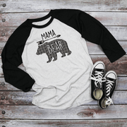 Holiday Unisex Next Level Raglan Mama/Papa Bear Buffalo plaid Shirt