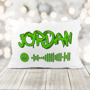Personalized Graffiti Spotify Playlist Pillow