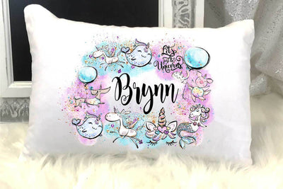 Unicorn Under The Sea Personalized Travel/Nap Pillow