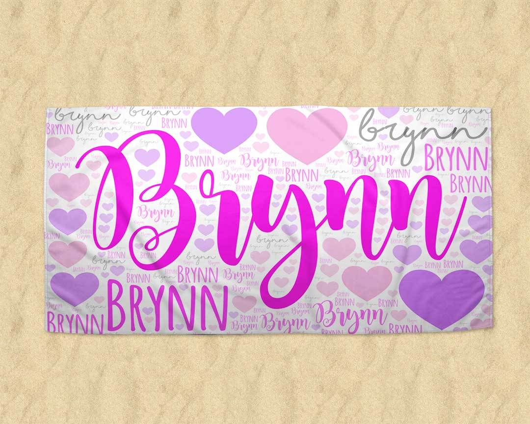 Personalized Name Beach Towels