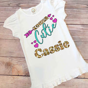 Personalized Grade Cutie Back to School Girl Shirt