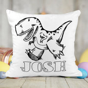 Personalized Dinosaur Activity Coloring Pillow with 10 Washable Markers