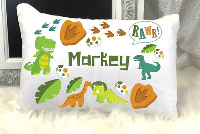 Dinosaur Personalized Travel/Nap Pillow