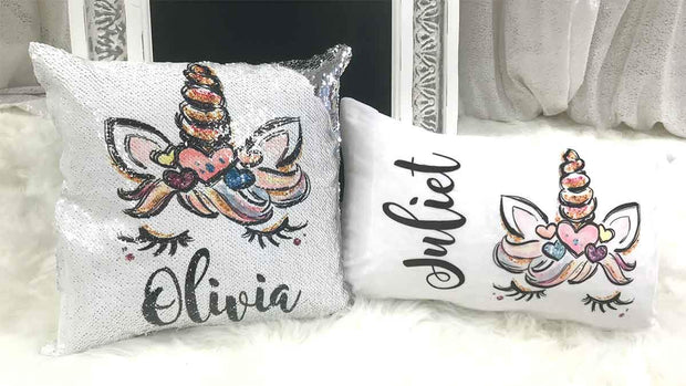 Glitzy the Unicorn Personalized Nap Pillow