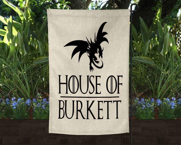 Personalized House Of Garden Flag