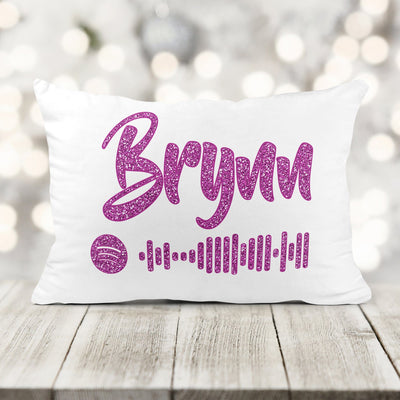 Personalized Kids Glitter Single Song Music Code Pillow