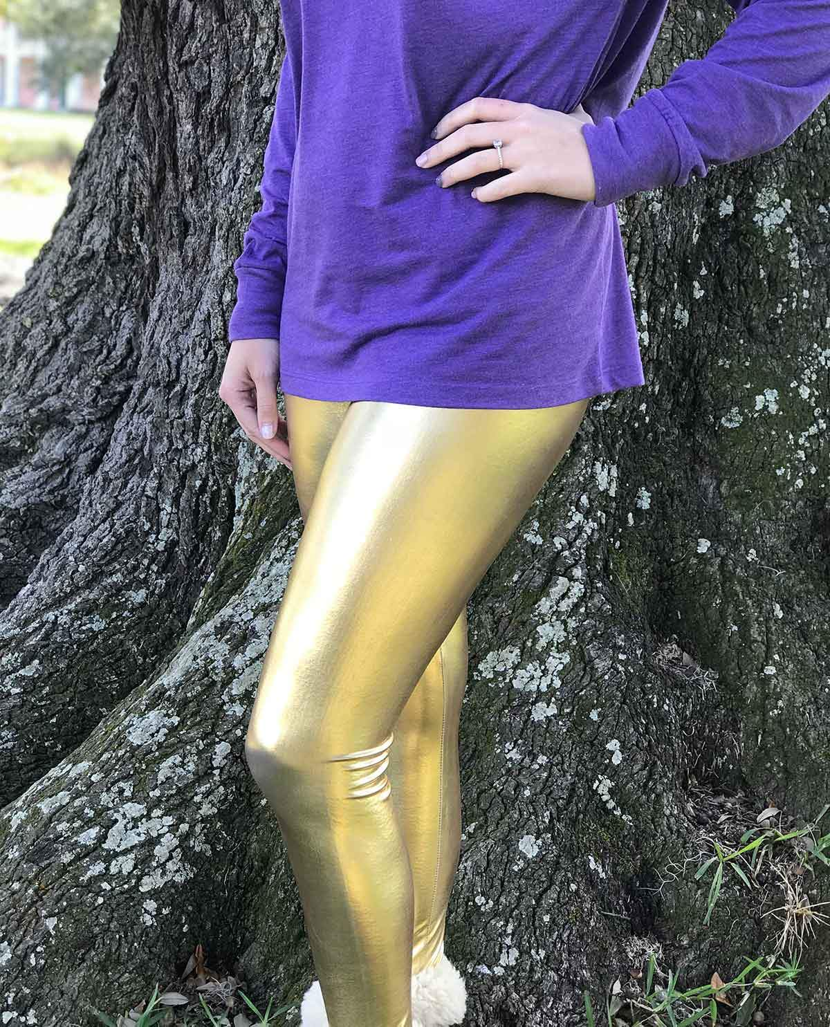 8622d0981dcc3 Solid Gold Leggings - GLAM - Girls Love A Monogram