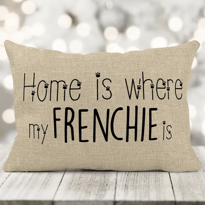 Pick Your Breed (Home is where MY DOG is) Faux-Burlap 12x18 Pillow with insert