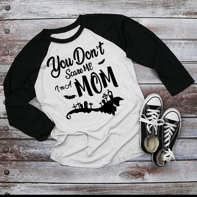 You Don't Scare Me I'm A Mom Shirt | Halloween Apparel, Halloween Clothing, Comfy Tee