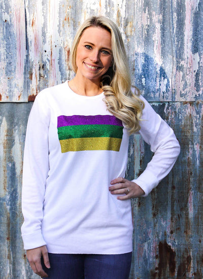 Mardi Gras Flag Thermal Shirt