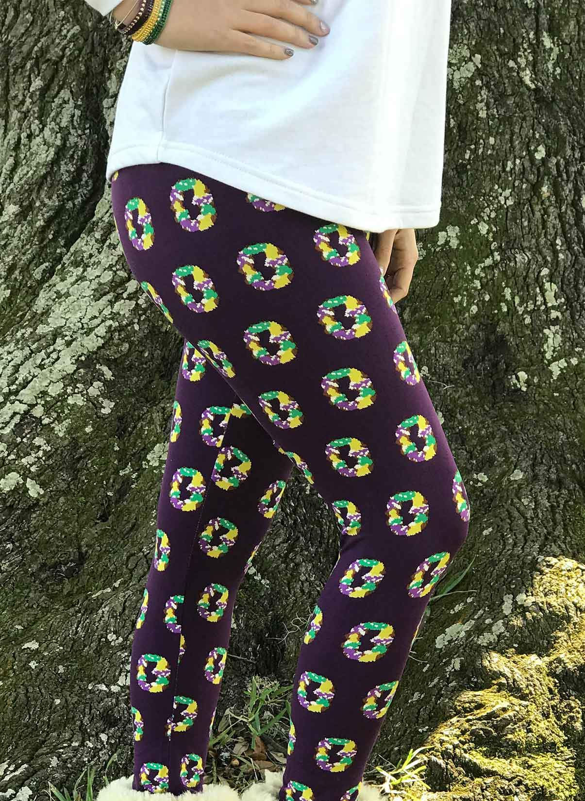 05539d820a07f Purple King Cake Leggings - GLAM - Girls Love A Monogram