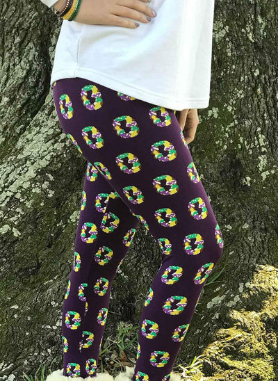 Purple King Cake Leggings