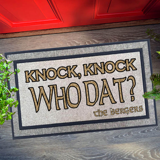 Knock Knock Who Dat Welcome Mat