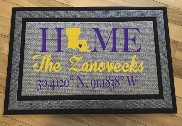 Personalized LSU Door Mat