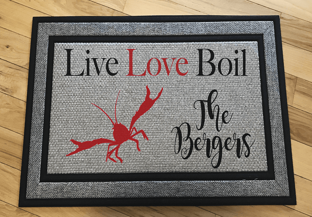 Personalized Live Love Boil Door Mat