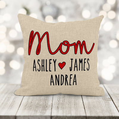 Personalized Mother's Day Burlap 16x16 Pillow