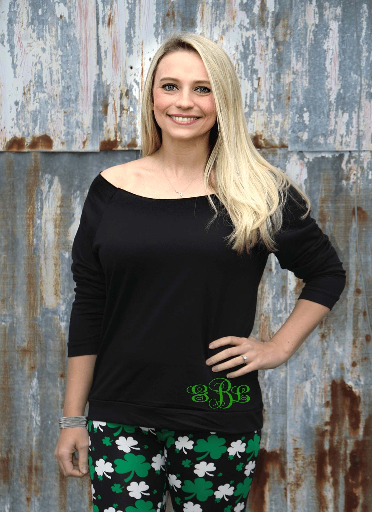 1b93e5aa3 Monogrammed French Terry St. Patty's Day Shirt - GLAM - Girls Love A ...