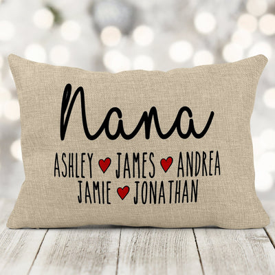 Personalized Grandparent Pillow, Mother's Day Gift