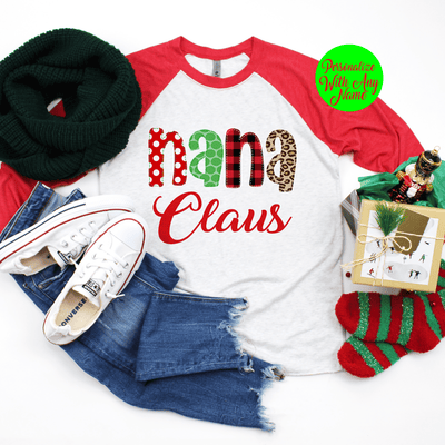Personalized Grandparent Claus T Shirt