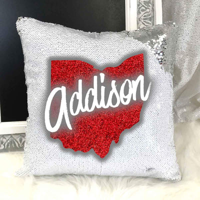 Personalized Ohio Mermaid Pillow Sham