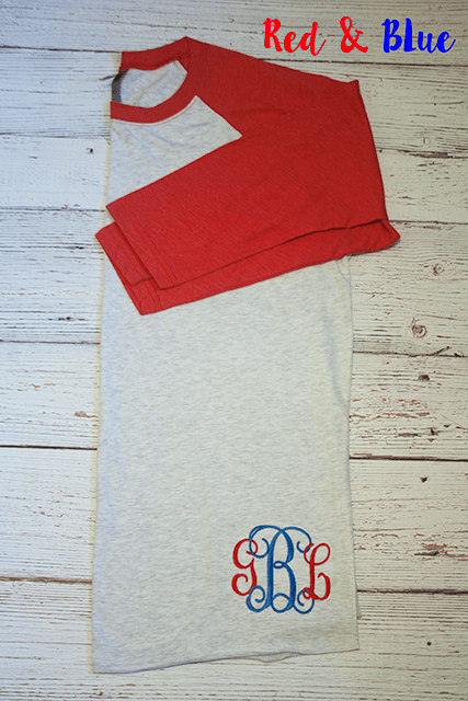 Gameday Monogrammed Raglan T's