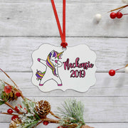 Personalized Unicorn Christmas Tree Ornament | 6 Designs to Choose from