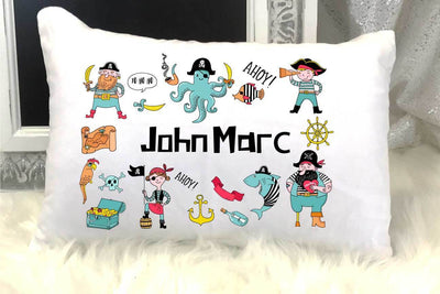 Pirate Personalized Nap/Travel Pillow