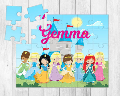 Personalized Girls Princess 30 Piece Puzzle