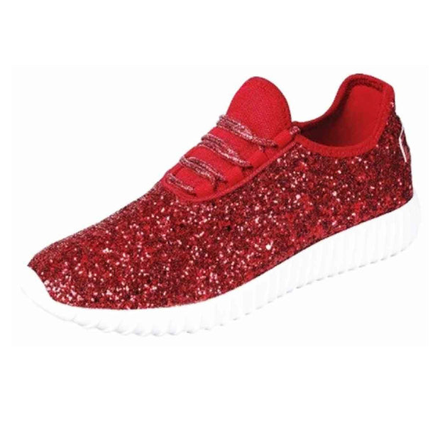 Red Glitter Sneakers