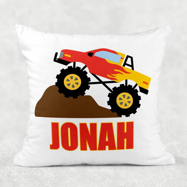 Personalized Monster Truck Pillow