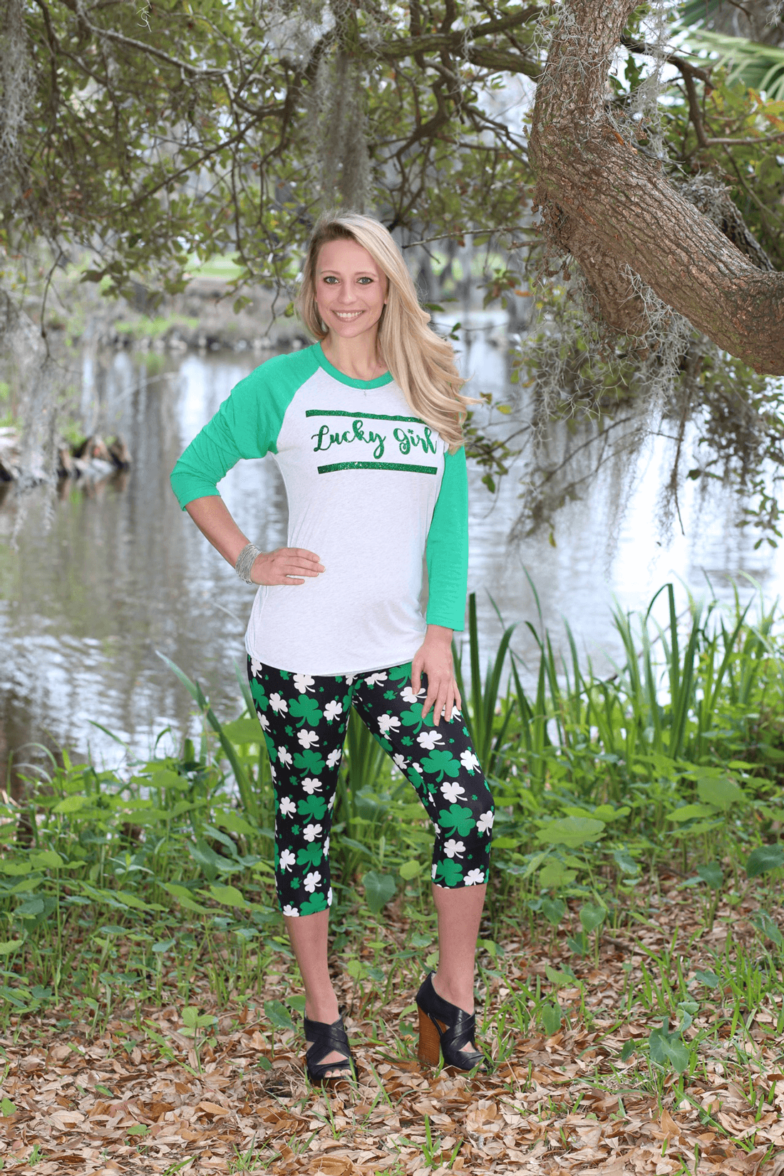 00c20d0ff St. Patty's Day Leggings - GLAM - Girls Love A Monogram