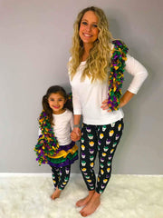 Mardi Gras Snowball Leggings