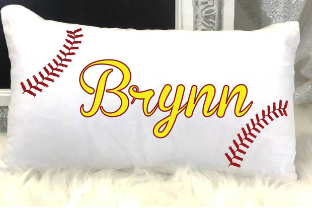 Personalized Softball Kids Travel/Nap Pillow