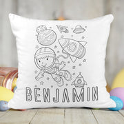 Personalized Space Activity Coloring Pillow with 10 Washable Markers