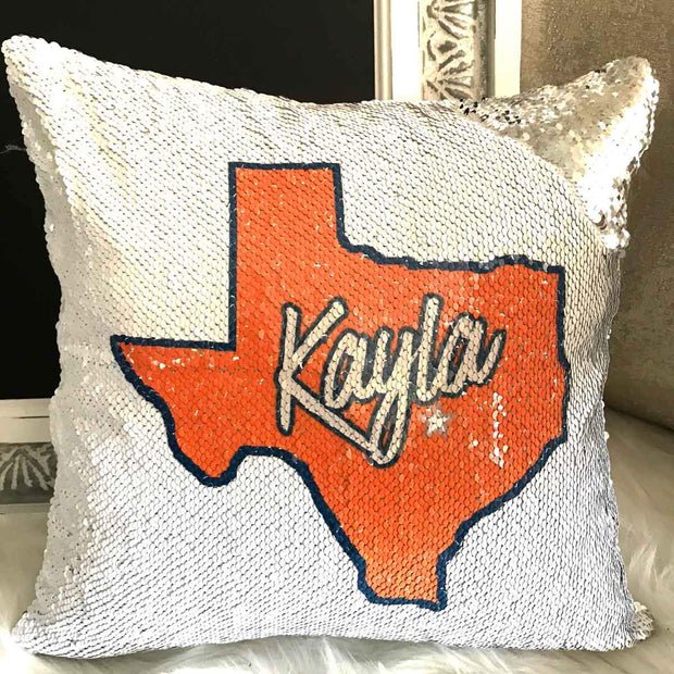 Personalized Texas State Mermaid Unicorn Pillow Sham
