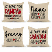 We Love You Family Pillow 16X16 Square