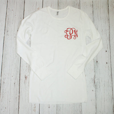 Christmas Monogrammed Thermal Shirt