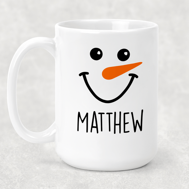 Personalized Snowman Cocoa or coffee mug 15oz. GREAT FAMILY GIFT
