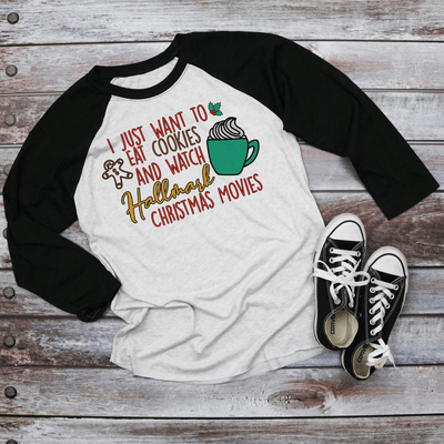 Holiday Unisex Next Level Raglans Hallmark Christmas Movie Shirt