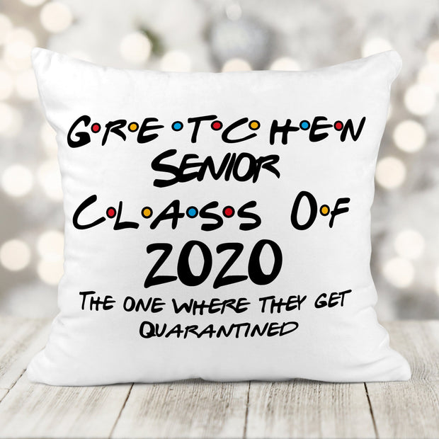 Personalized Senior Class of 2020 Velveteen Pillow. The one where......