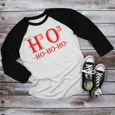 Holiday Unisex Next Level Raglan Chemistry of  HoHoHo Shirt