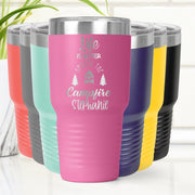 Personalized Life Is Better Around The Campfire Laser Etched Tumbler Cup 20 oz. or 30 oz. Add Your Name