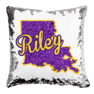 Louisiana State Sequin Mermaid Pillow