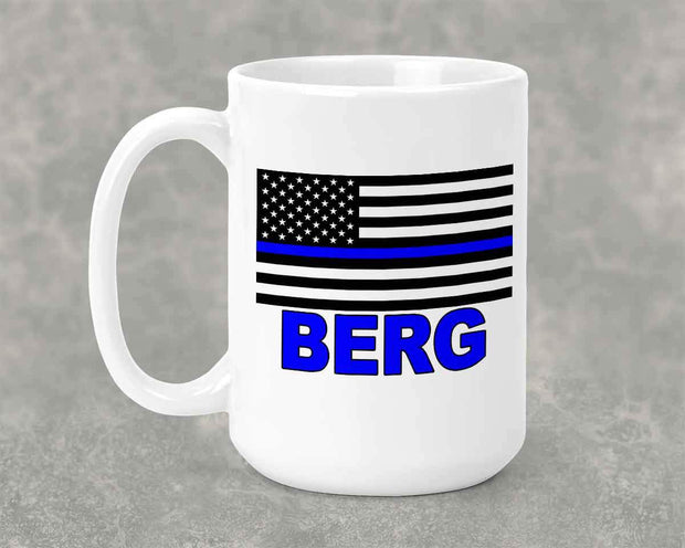 Personalized Back the Blue 15 oz Mug