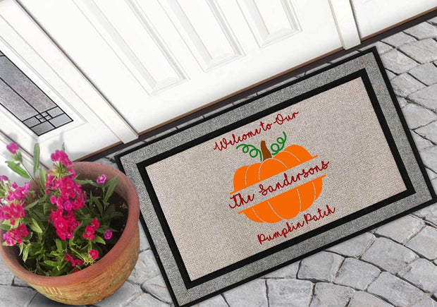 Personalized Welcome To Our Pumpkin Patch Welcome Mat