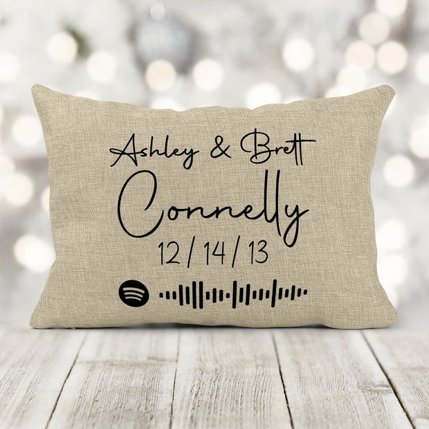 Wedding/Couples Anniversary Scannable Music Code Song Pillow