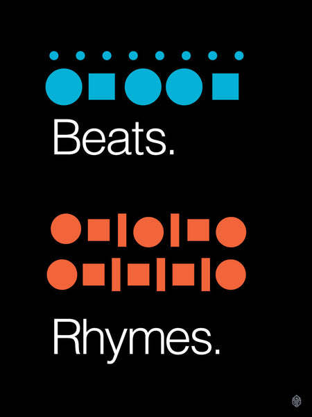 Beats & Rhymes Print -  - Print - Christopher David Ryan - CDR
