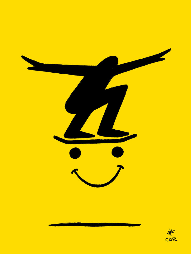 Skate Smiley Print -  - Print - Christopher David Ryan - CDR