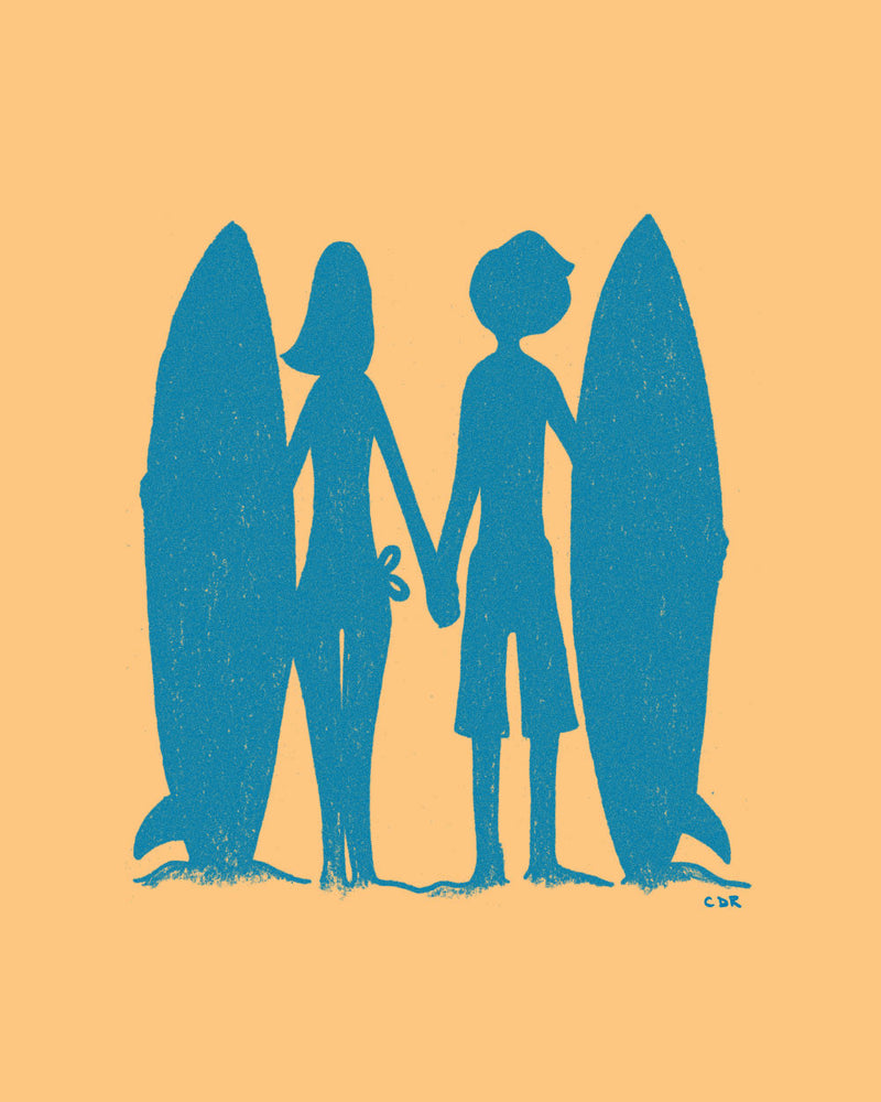 Surfers Print -  - Print - Christopher David Ryan - CDR
