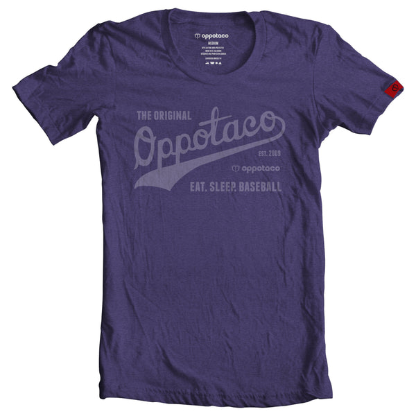 EAT. SLEEP. BASEBALL! - Purple Heather